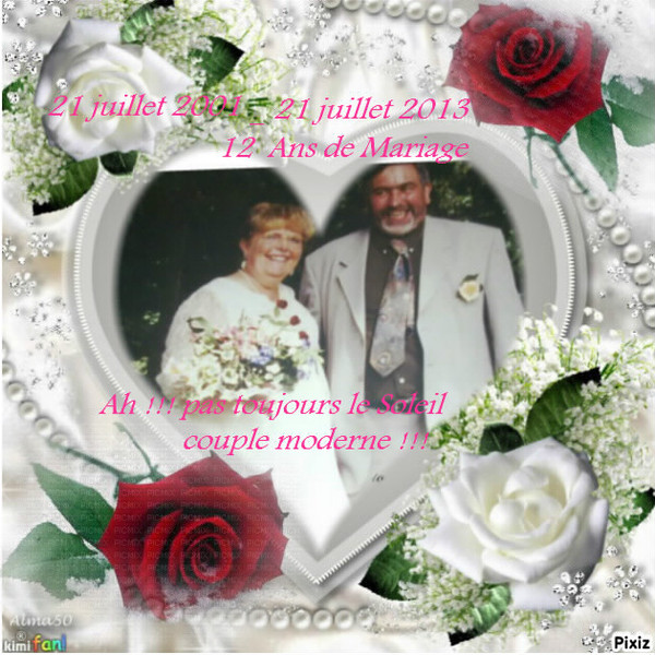 Anniversaire 12 ans de mariage - Anniversaire mariage 4 ans ...